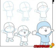 How to draw Pocoyo