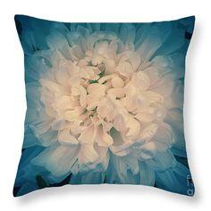 """Starry Flower Throw Pillow 14"""" x 14"""""""