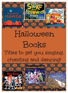 Books for Kids: Halloween books to get you singing, chanting and dancing from growingbookbybook.com