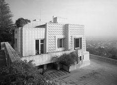 Ennis Residence - Los Angeles - California -Frank Loyd Wright - 1954  Photo by Ezra Stoller