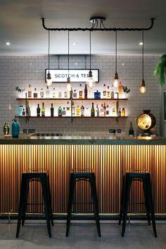 home bar 35 Genius Modern Bar Designs You Must Try - test Pub Design, Bar Interior Design, Restaurant Interior Design, House Design, Back Bar Design, Home Bar Rooms, Home Bar Decor, Bar Home, Home Bars