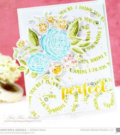 #WPlus9 | Watercolor: Zig CC Markers | Swirly Background Sentiment with Joni