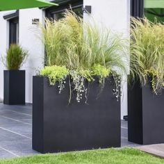 Planters as a privacy screen on the terrace - garden design ideas - Planters as a privacy screen on the terrace With our ELEMENTO planter you can create an excellent p - Outdoor Planters, Outdoor Gardens, Garden Planters, Modern Planters, Modern Patio, Backyard Patio, Backyard Landscaping, Backyard Privacy, Balcony Privacy Plants