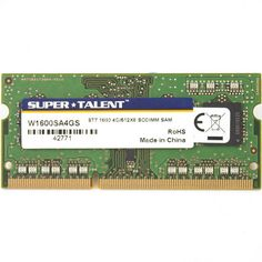 Super Talent DDR3-1600 SODIMM 4GB