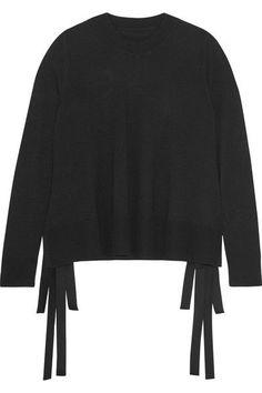 MM6 Maison Margiela - Tie-side Knitted Sweater - Black - medium