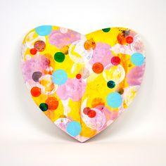 Heart, 2016, painting on woodenpanel - Dennis Happé