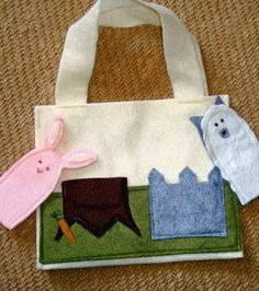 Felt Finger Puppet Purse