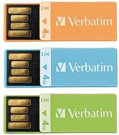 Verbatim - 4GB Clip It USB Drives, 3 pack