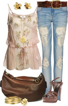 """T-bar sandals"" by angela-windsor on Polyvore"