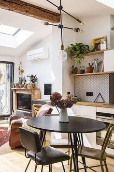 Une Piece A Vivre Baignee De Lumiere Appartement Bordeaux Decor Rustique Cote Maison
