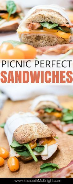 Perfect Picnic Sandwich Recipe (ad) love these easy picnic sandwiches – the cold sandwiches are perfect for picnic food ideas or just eating lunch Sandwich Bar, Roast Beef Sandwich, Sandwich Ideas, Cold Picnic Foods, Healthy Picnic Foods, Family Picnic Foods, Best Sandwich Recipes, Lunch Recipes, Dinner Recipes