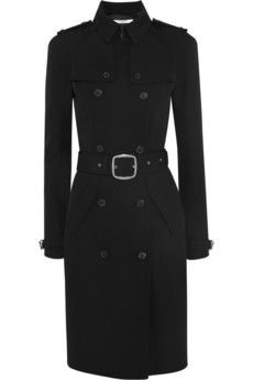 Givenchy Wool-twill trench coat with metal buckle