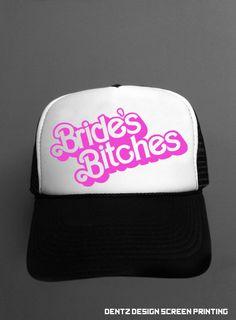 Brides Bitches Snapback Trucker Hat by DentzDesign on Etsy b9682ffe00d3