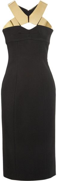 burberry prorsum England Metal-plated Crepe Dress - Lyst ~ a little black dress for Miss M. ~ Dawn Aurora DressmesweetieDarling
