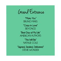 Soundtrack to Your Destination Wedding: The Grand Entrance #wedding #music