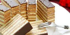 Dobošové rezy Czech Recipes, Russian Recipes, Ethnic Recipes, Czech Desserts, Cake Recept, European Dishes, Chocolate Truffles, Sweet Recipes, Cheesecake