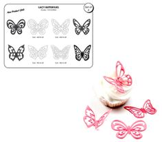 This lacy butterfly cutters by JEM Cutters includes 4 butterfly cutter for creating beautiful lace butterflies. Each butterfly c