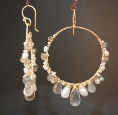 Sahara 70 Large hoops wrapped with by CalicoJunoJewelry on Etsy, $120.00