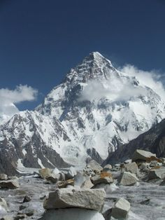 The world's 2nd highest mountain and arguably the toughest one to climb, K2, as seen from Concordia, Pakistan