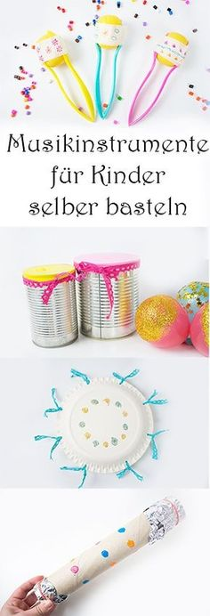 Musikinstrumente für Kinder selber basteln aus Upcycling Materialien schnell un… Tinker musical instruments for children themselves from upcycling materials quickly and easily Kids Crafts, Crafts To Sell, Diy And Crafts, Arts And Crafts, Upcycled Crafts, Making Musical Instruments, Kindergarten Crafts, Diy For Kids, Fabric Crafts