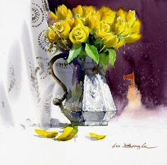 Виртуозные акварельные натюрморты от Шин Чонг Сик (Shin Jong Sik)! | Мой мир в фотографиях