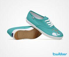 Social Media Shoes - Twitter.