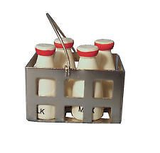 MILK BOTTLE CRATE TO PLACE OUTSIDE FAIRY DOOR OR PUT IN FAIRY GARDEN - BRAND NEW