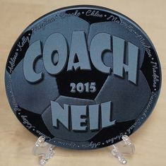 Do you want something different for your soccer coach this year? A black marble plaque makes a beautiful, yet unique Coachs gift. There is an
