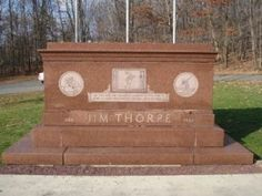 Jim Thorpe's grave in Jim Thorpe, Pa.
