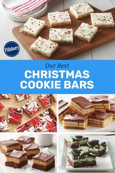 Exceptional Holiday recipes info are readily available on our web pages. Read more and you will not be sorry you did. Christmas Deserts, Best Christmas Cookies, Holiday Cookies, Dessert Bars, Dessert Recipes, Desserts, Holiday Baking, Christmas Baking, Chocolate Chip Bars