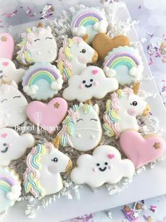 Adorable Unicorn Cookies!