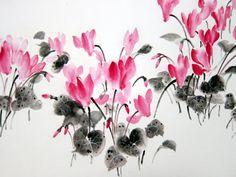 Japanese Ink Painting Sumi-e Suibokuga Ink art Asian by Suibokuga