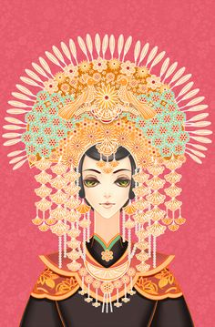 The Bride of Minangkabau by Vertigo Kelly, via Behance