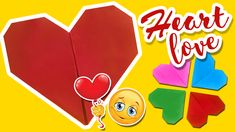 Watch how to make easy origami paper craft heart for the ones you love! Remind your love with a handmade gift not just on St.Valentine's Day, but every day ; Easy Origami, Origami Paper, Paper Bookmarks, Make It Simple, Paper Crafts, Watch, Logos, Day, Heart