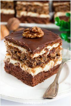 Orzechowiec na biszkopcie - I Love Bake Sweet Recipes, Cake Recipes, Fab Cakes, Tiramisu, Cheesecake, Chocolate, Baking, Ethnic Recipes, Holiday