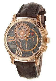 » Price : $ 223,000.00  Price Now Only : $ 144,950.00: Zenith Academy Last Tsar Tourbillon Chronograph Men's Watch 18-1260-4005-72-C504 Short