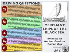 Ancient Merchant Ships of the Black Sea -- PBL freebie Buried Treasure, Gifted Education, Black Sea, Ancient Civilizations, Ancient Greek, Bring It On, Ships, This Or That Questions