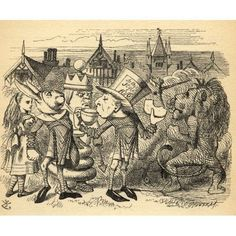 Alice With HattaIllustration By Sir John Tenniel 1820-1914 From The Book Through The Looking-Glass And What Alice Found There By Lewis Carroll Published London 1912 Canvas Art - Ken Welsh Design Pics
