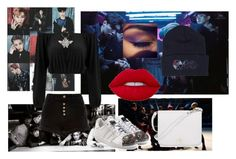 """""""exo"""" by hanani-nur on Polyvore featuring River Island, adidas Originals, Lime Crime, Furla, simple, kpop and EXO"""