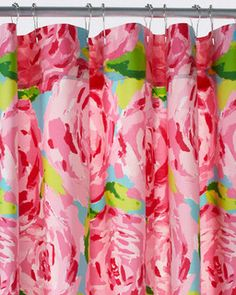 Lilly Pulitzer Sister Florals Shower Curtain, First Impression Hotty Pink - contemporary - shower curtains - by Garnet Hill