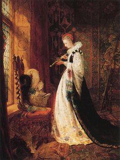 "William Jabez Muckley (British, 1837-1905), ""Home Once More""."
