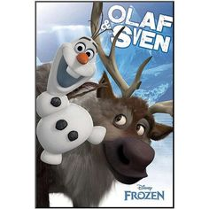 Disney's Frozen Olaf and Sven Framed Wall Art by Art.com ($224) ❤ liked on Polyvore featuring home, home decor, wall art, blue, disney wall art, interior wall decor, framed wall art, blue home decor and vertical wall art