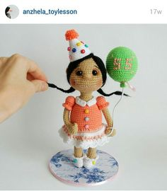 Instagram. PICTURE ONLY for inspiration. Crochet amigurumi doll