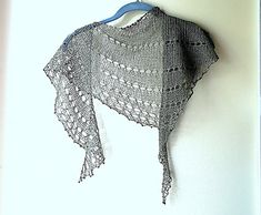 Love the name of this shawl, Dangling Conversation. Knit in one of my favorite linen yarns - Shibui Linen