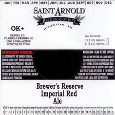 Saint Arnold - Brewer's Reserve Imperial Red