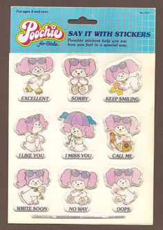 Poochie Puffy Stickers. I had all this poochie stuff. I was crazy about poochie!!