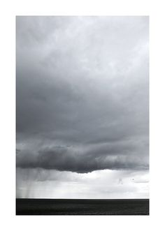 Storm shower above the sea - Fine art photography print