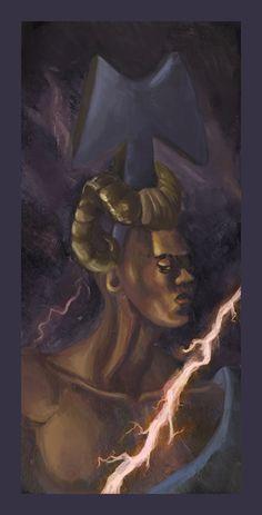 An Igbo storm-god. On occassion, called Amadi-Oha. Ashanti People, Black Vampire, African Mythology, African Princess, Thunder And Lightning, Beautiful Blue Eyes, Flesh And Blood, Orisha, Sacred Art