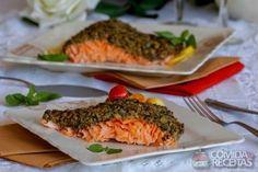 Receita de Salmão com crosta de azeitona em receitas de peixes, veja essa e outras receitas aqui!