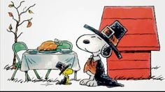 Happy Thanksgiving from Woodstock and Snoopy
